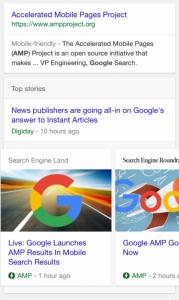 amp w wynikach wyszukiwania Google
